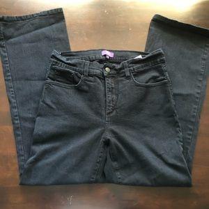 NYDJ bootcut black denim jeans 10P